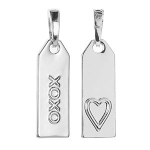 Picture of 'XOXO' Silver Droplet